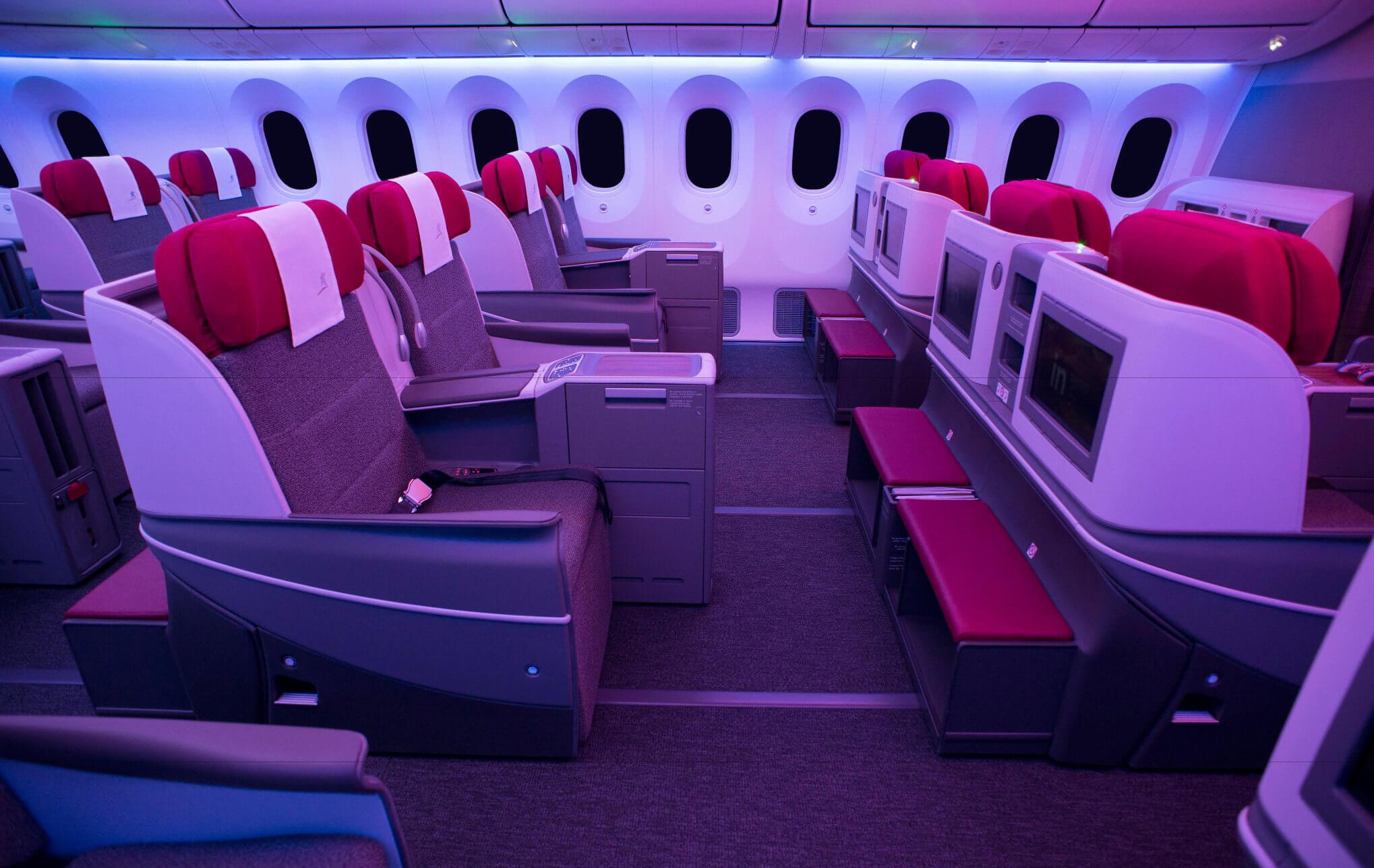 Business Class Kabine im LATAM 787 Dreamliner