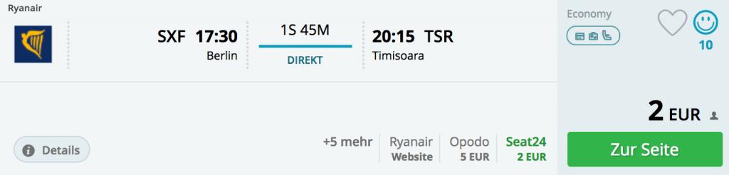 Berlin-Schönefeld nach Timisoara, 14. Februar 2018