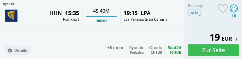 14.03., Frankfurt Hahn - Gran Canaria