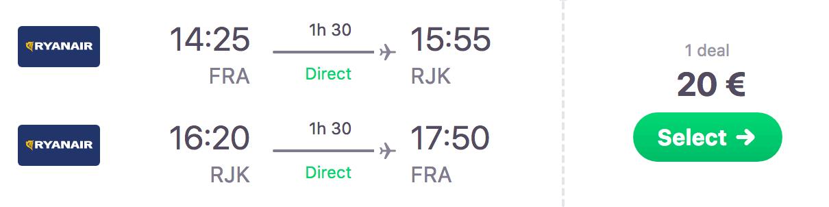Für 10 Euro nach Kroatien