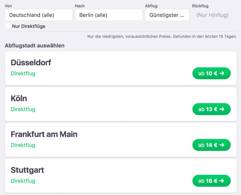 Ab 10 Euro nach Berlin fliegen - hier klicken!
