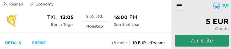 Berlin - Palma de Mallorca für nur 5 Euro