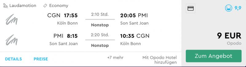 Köln - Mallorca billig