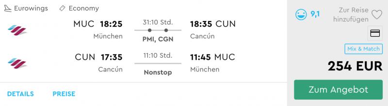 Günstige Flüge von München nach Cancún. Jetzt buchen!
