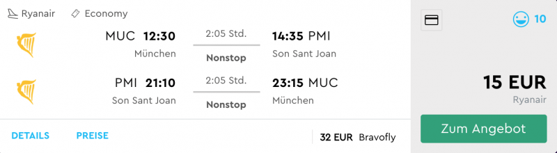 Billig von München nach Mallorca fliegen