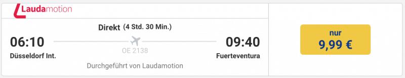 Für 5 Euro nach Fuerteventura
