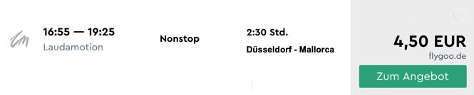 Billig von Düsseldorf nach Mallorca fliegen