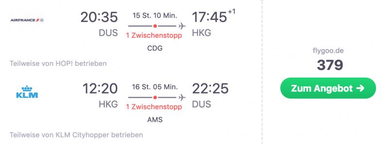 Düsseldorf Hongkong Billigfllug