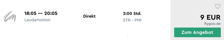 Stuttgart - Mallorca nur 9 Euro!
