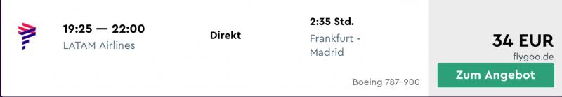 Günstig mit LATAM an Frankfurt fliegen!