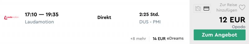 Düsseldorf - Mallorca: 10 Euro