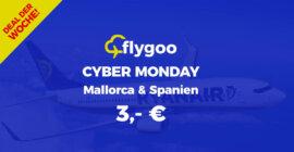Cyber Monday: Flüge nach Mallorca und Malaga für 3,- €