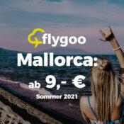 Sommer 2021: Mallorca-Flüge ab nur 9,- €