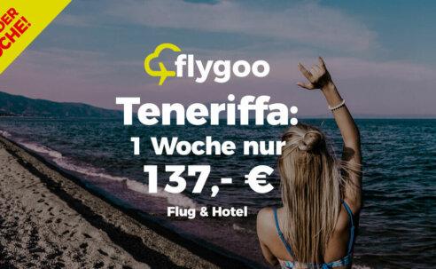 Schnäppchen: 1 Woche Teneriffa ab 137,- € pro Person