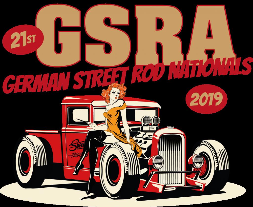 GSRA Hot Rod Treffen, Layout für Poster, T Shirt usw.