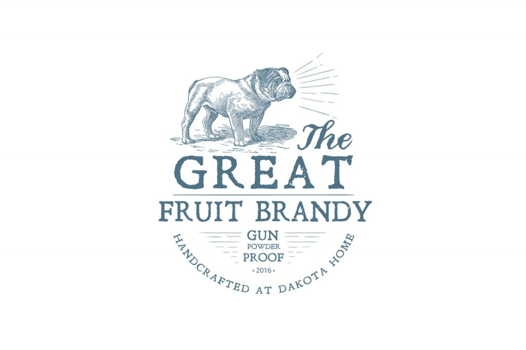 LogosFruit Brandy Dakota Home, Design , Druckvorstufe von Flying Piston Studios