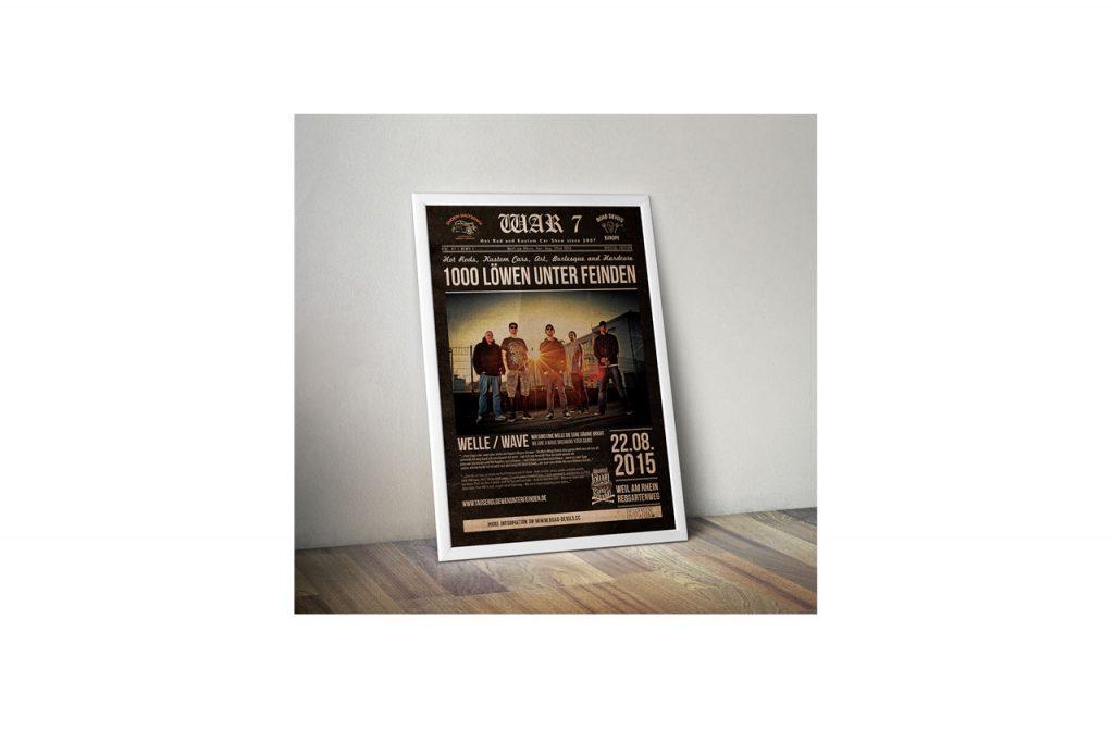 Plakat Tausend Loewen unter Feinden - Design , Druckvorstufe von Flying Piston Studios