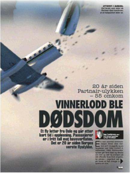 Billede fra norsk avis