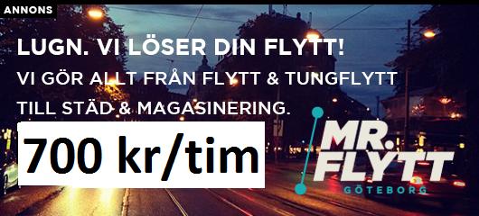 Flyttfirmor Göteborg reklam för mr flytt
