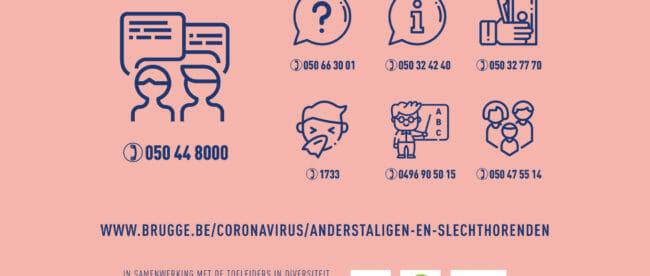 Info stad Brugge corona
