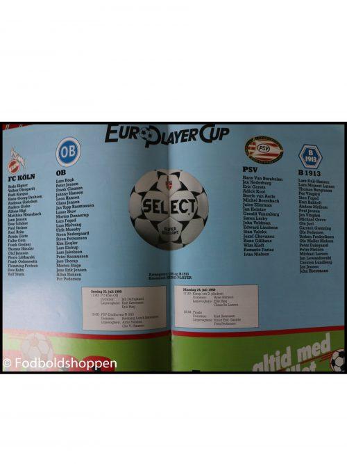 Kampprogram : Euro Player Cup 1989