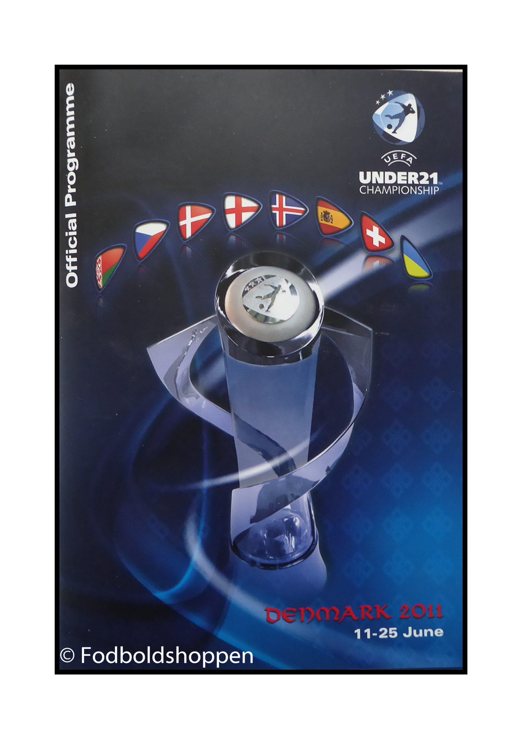 Officielt kampprogram for U21 slutrunden 2011