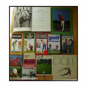 Diverse bøger om golf – 12 stk