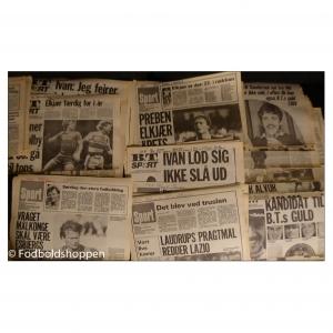 Cirka 300 sportstillæg fra B.T. og Aktuelt fra 1 Juli – 31 Dec. – 1984