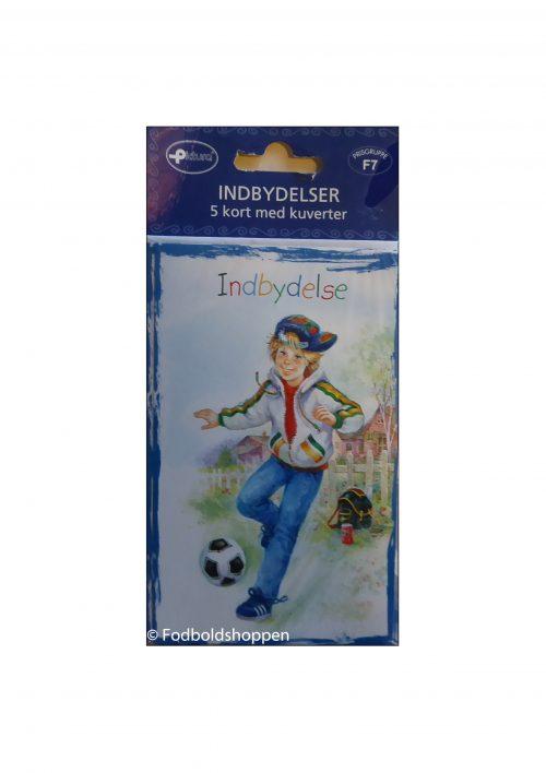 Indbydelser med kort og kuverter (Fodbold)