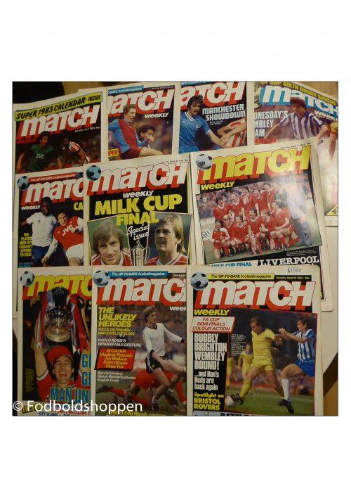 Match Weekly - 10 magasiner fra 1983
