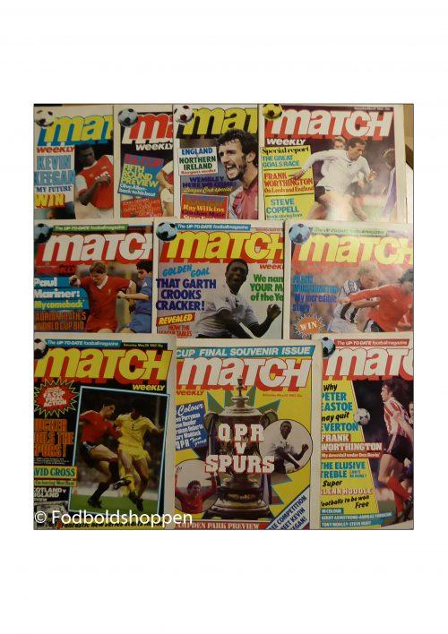 Match Weekly - 10 magasiner fra 1982