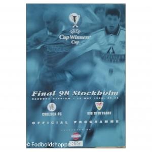 Kampprogram – Cup winners cup Finale 1998. Chelsea – Stuttgart
