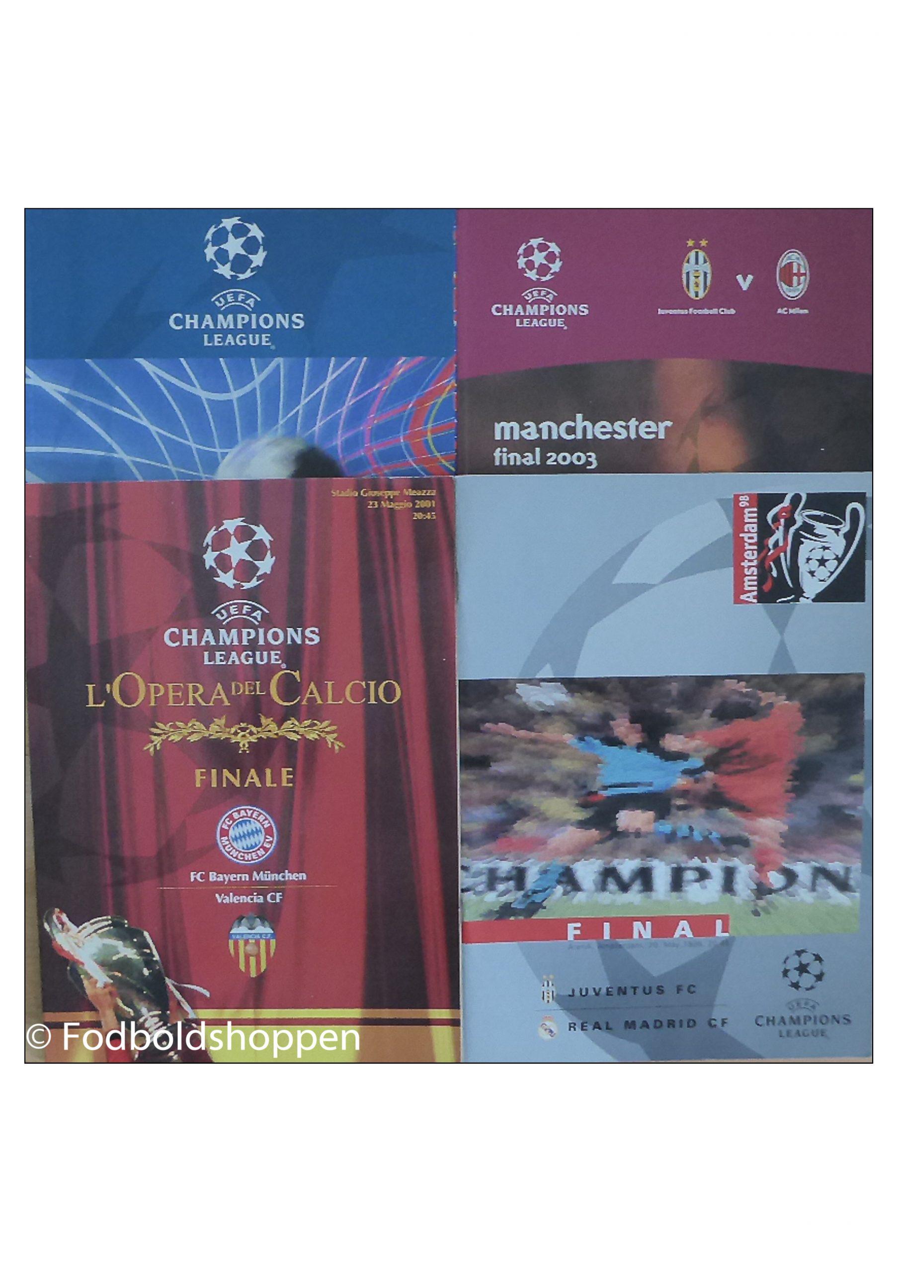Kampprogramer: Champions League Finaler