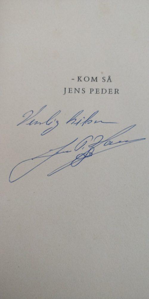 Jens Peder Hansen Autograf