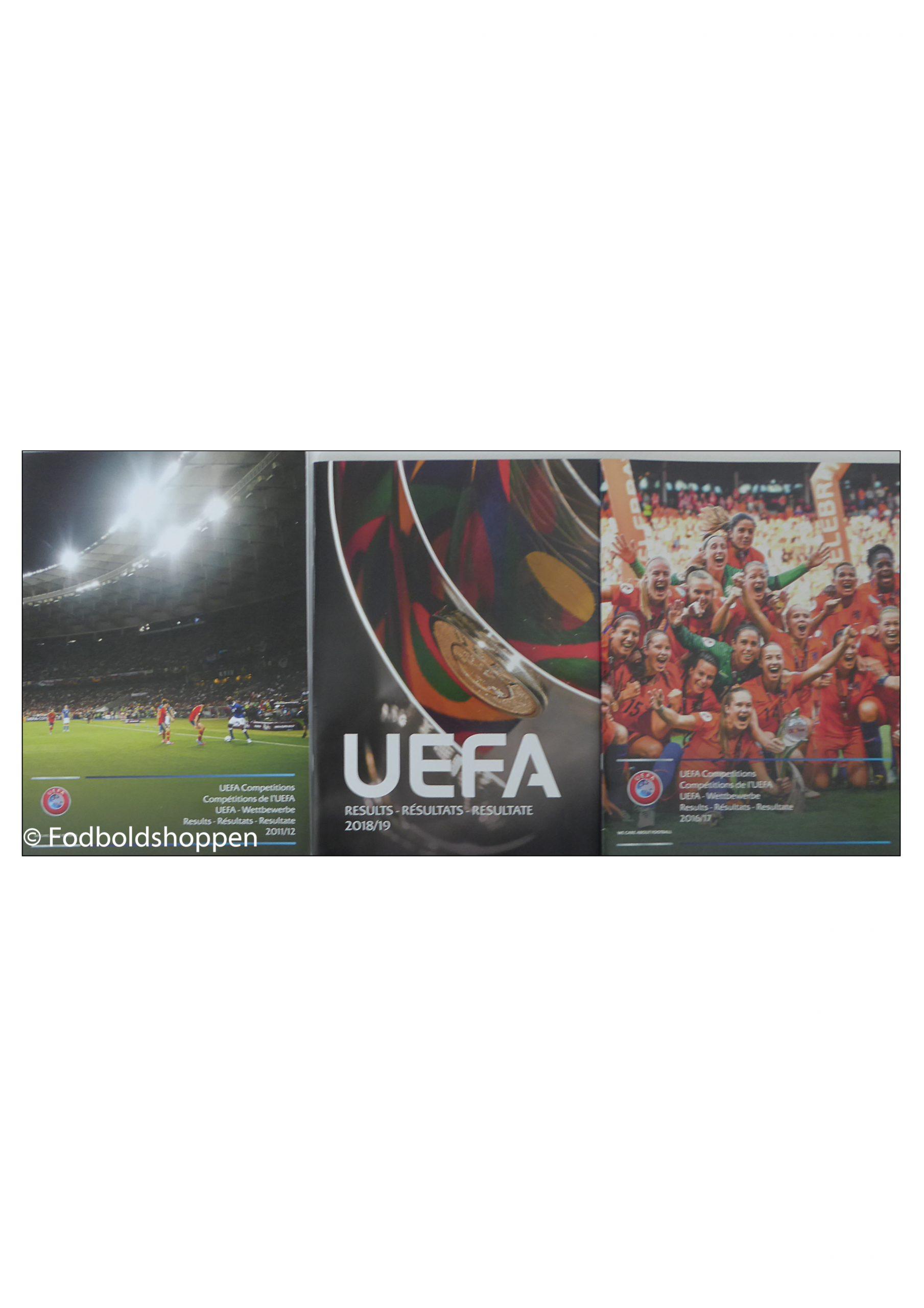 Resultatliste over UEFA internationale tuneringer for klub og landshold