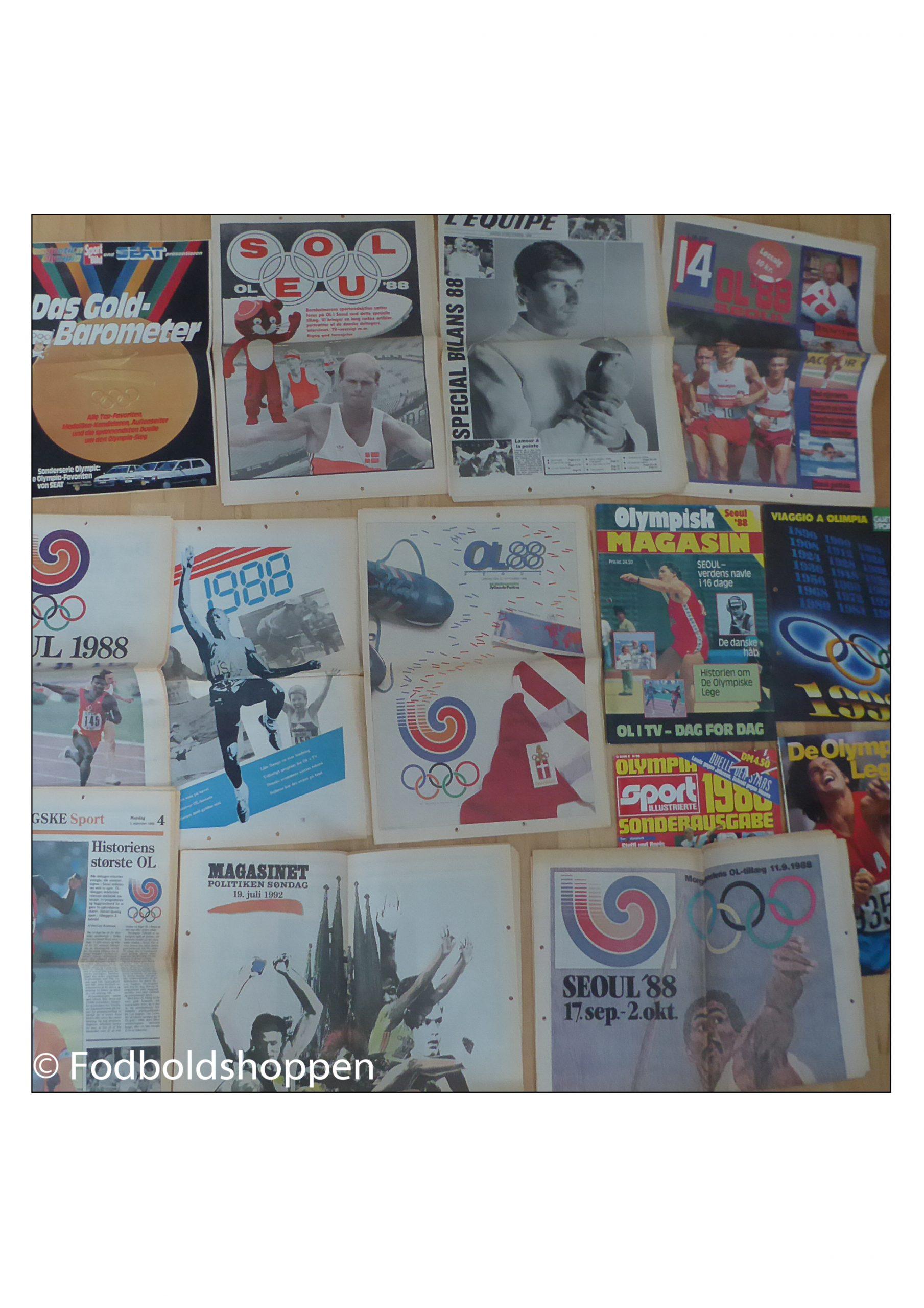 Ringbind med diverse OL tillæg - Mest 1988