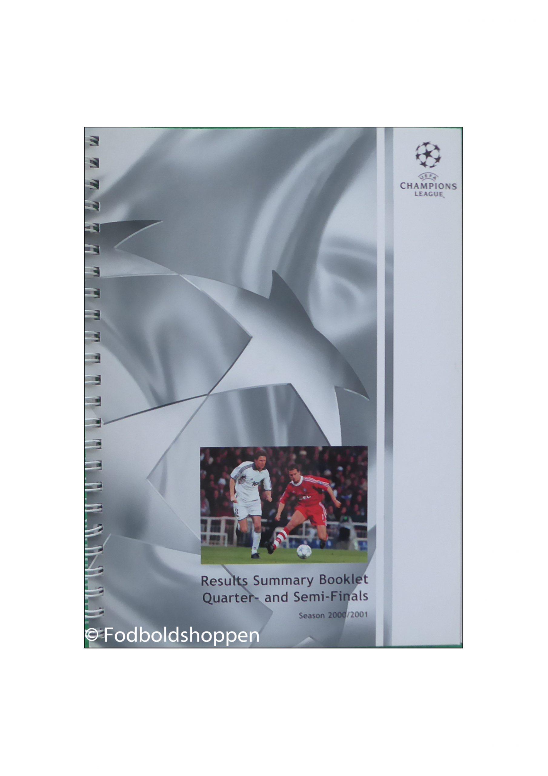 Champions League Results Summary 1/4 & Semi-finals 2000/01