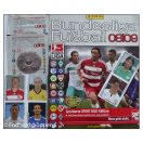 Panini Bundesliga Fusball 08/09 - Tomt album med 6 løse kort og 2 uåbnet pakker