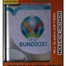 denne EURO pocket tin fra 2021 Kick Off serien, der indeholder 3 limited edition og 4 boosterpakker med 8 kort i hver.