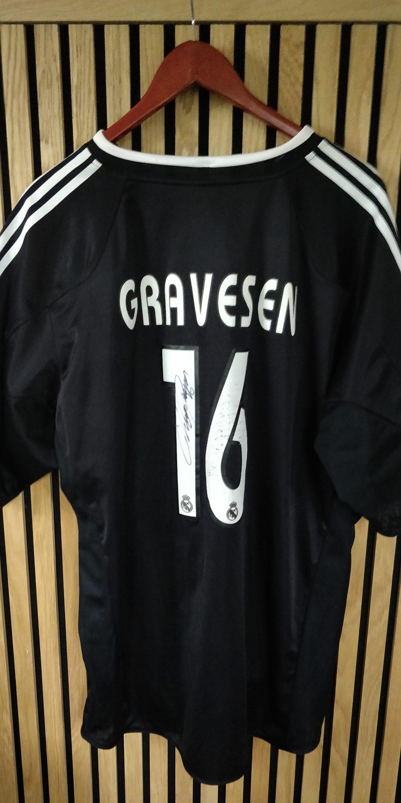 SIGNERET Thomas Gravesen Adidas Real Madrid trøje