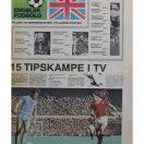 Tillæg fra Jyllandsposten om engelsk fodbold fra 1977