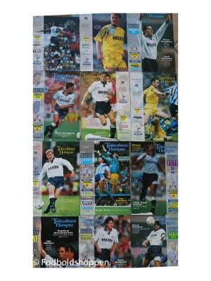 Tottenham Kampprogrammer 12 stk –  Fra 1991 og 1992