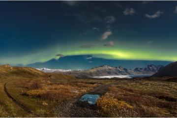 Noorderlicht maanlicht © Steven Warmoes