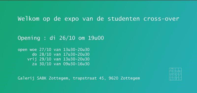 Opening Expo studenten cross-over - SABK Zottegem @ Galerij SABK Zottegem | Zottegem | Vlaanderen | België