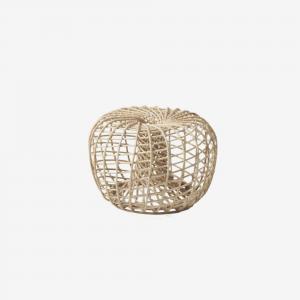 Cane-Line Nest fodskammel, lille, dia. 65 cm. - Sort