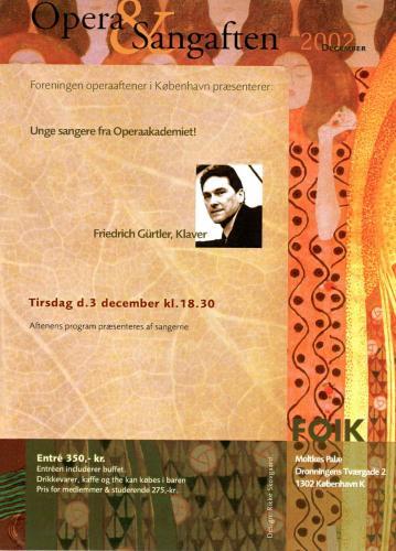 2002-12-03 - Operaakademiet-Friedrich Gürtler
