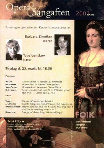 2003-03-25 - Barbara Zinniker-Tove Lønskov