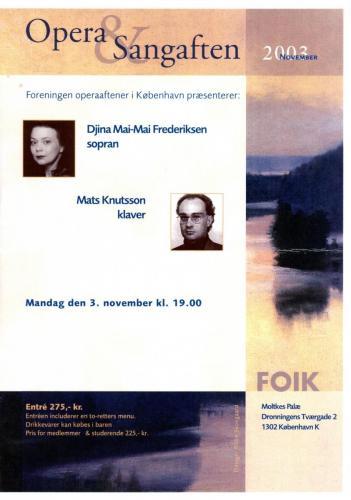 2003-11-03 - Djina Mai-Mai-Mats Knutsson