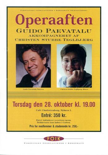 1999-10-28 - Guido Paevatalu - Christen Stubbe Teglbjærg