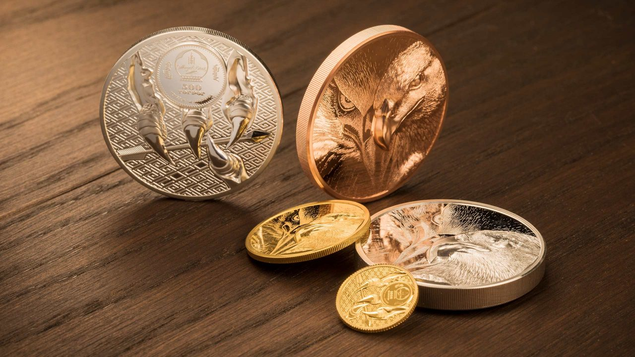 Guld och kopparmynt